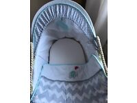 'Jungle friends' Moses basket & stand. Still selling in babies r us