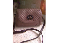 Nica Taupe Faux Leather Across The Body Bag