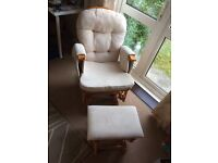 Babylo Glider Chair and Footstool