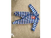 Brand New John Lewis fleece baby suit - age 9-12mths