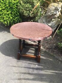 Studded Copper Top Table