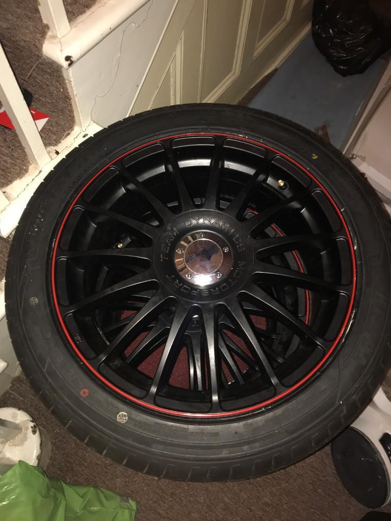"Brand new!!! team dynamics alloys 17"" 5x120"