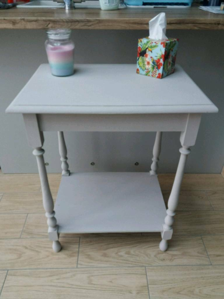 REDUCED FOR A QUICK SALE - SOLID OAK SHABBY CHIC HALL CONSOLE TABLE ...