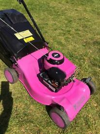 "18"" Pink purple lawnmower Steel deck light & easy to push mower serviced"