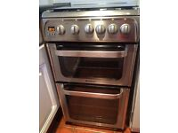 Now Sold STC - Hotpoint Hug 52 Gas Freestanding Cooker with Double Oven - Only 20 mths old!