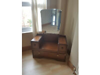 vintage wooden cabinet with mirror