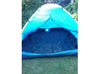 4 man tent-easy to assemble. Festival/beach/camping