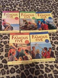 Famous five books x5