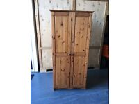 Pine Wardrobe and Bedside Chest
