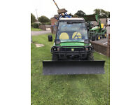 2012 John Deere XUV855D Gator with snow blade and only *99Hours*