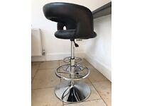 Kitchen Bar Stool, Black x 2. Collecton Only