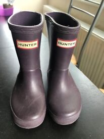 Boy or Girls Purple Hunter Wellingtons size 6 junior