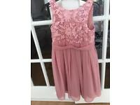 "Bridesmaid dress rose pink child size 26"" chest dry cleaned ex cond by For her and for Him"
