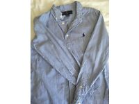 Boys Ralph Lauren Shirt, blue stripe, age 12 yrs