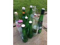 assorted glass bottles - FREE
