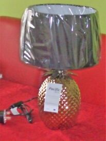 Pineapple style lamp with shade
