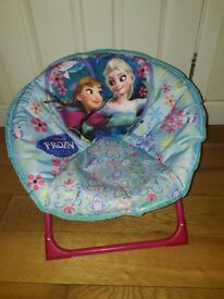 Joblot of 3 disney frozen items - moonchair, framed picture and ornament