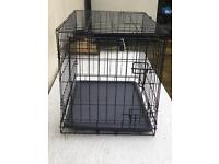 Small metal dog cage