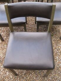 STURDY & COMFORTABLE DINING CHAIRS. Delivery possible. IN GOOD CONDITION.