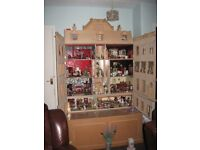 Dolls House and various pieces of furniture excellent condition