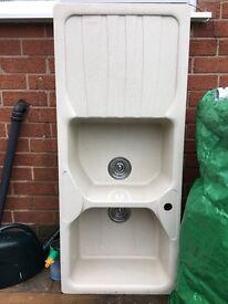 Franke double bowl single drainer kitchen sink