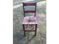 Heals original child's high chair around 1920s needs repair