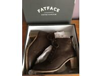 Fat Face brown leather boots