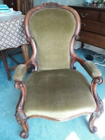 Victorian antique nursing chair