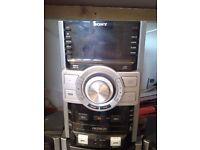 Sony genezi triple disc MP3 RDS USB stereo system very loud