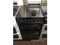 Black Parkinson Cowan 50cm gas cooker grill & oven good condition with guarantee bargain
