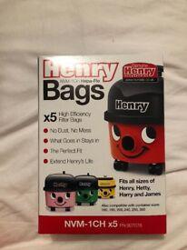 Henry Hoover vacuum bags x 5