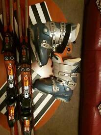 Skis and boots set