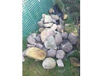 40 + garden boulders