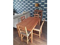 Dining Table and 4 Chairs - IKEA jokkmokk