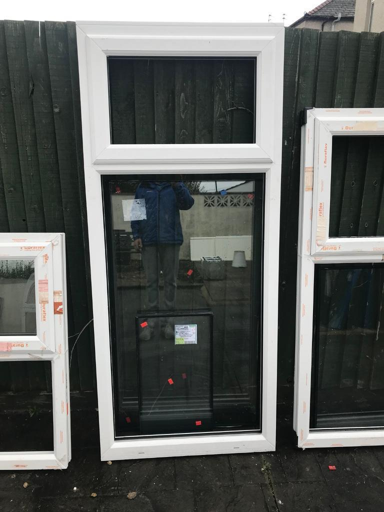 White Upvc window ( new )