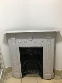 Reclaimed Original Victorian Cast Iron Fireplace