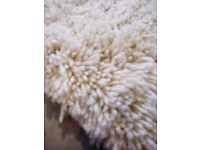 Large thick shaggy rug for sale