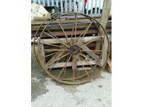 Garden ornament iron wheel Diameter 1m