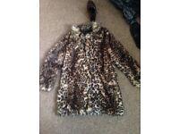 New look size 14 faux fur coat