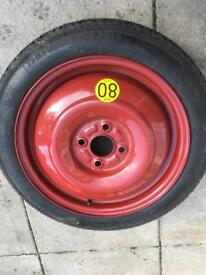 Space saver spare wheel