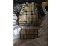 Burberry bucket bag and matching purse