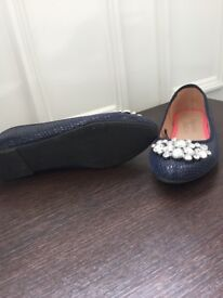 Brand New size 5 Navy blue dolly shoes