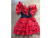 Girls spanish dress 9-12/12-18