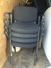 4 X meeting visitors stackable chairs. Delivery