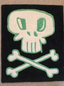 Skull & cross bones pirate rug