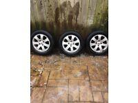 Peugeot alloy wheels x 3 195/65R15 tyres