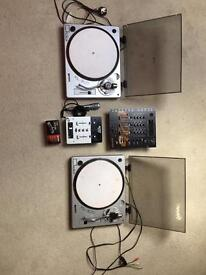 Gemini Turntable + Mixers Set