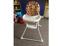 High chair from mothercare