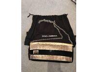 Dolce & Gabbana snakeskin clutch bag