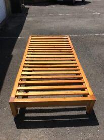 Sturdy single pine bed frame